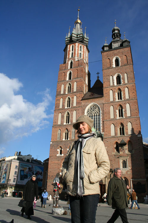 Iwona in front of Mariencurch
