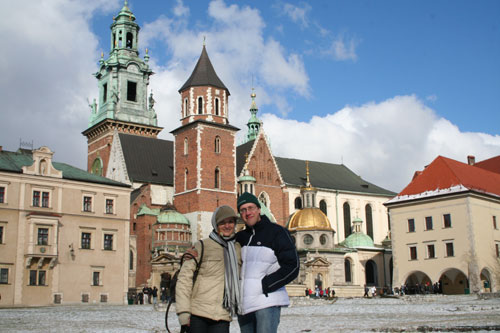 Iwona and me at Wawelcastle