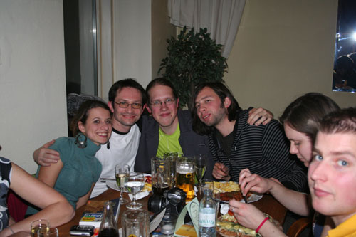 Niki, Darek, myself, Andy, Silvia, Christoph