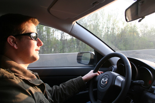 Christoph - Early in the morning on the highway A4 heading to Bratislava