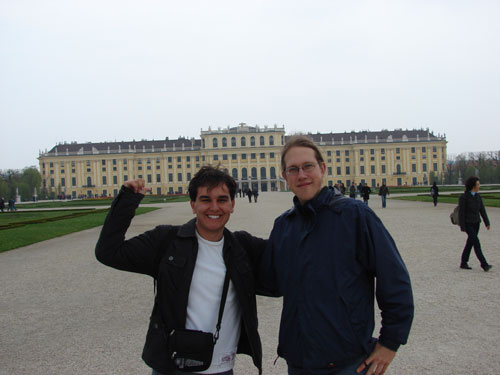 Mike and me in front of Schönbrunn-Castle