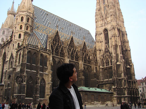 Mike at Stephansdom