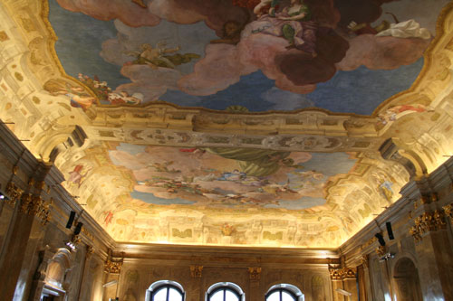 Watch that ceiling painting!