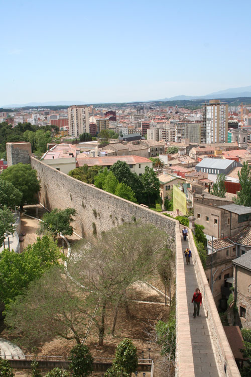 City wall of Girona