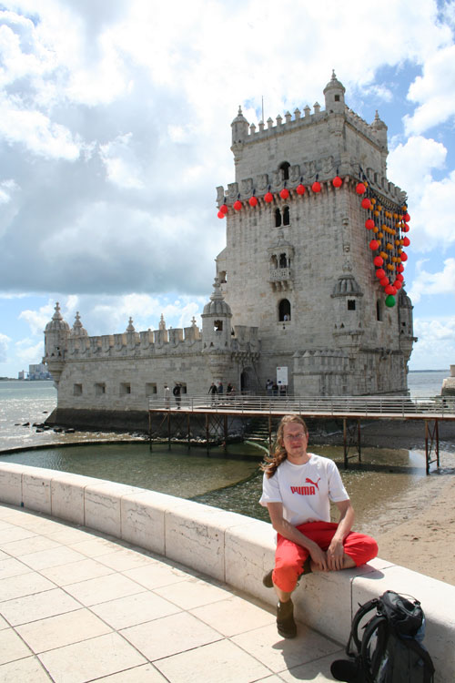 Me at a (fancy) Torre de Belém
