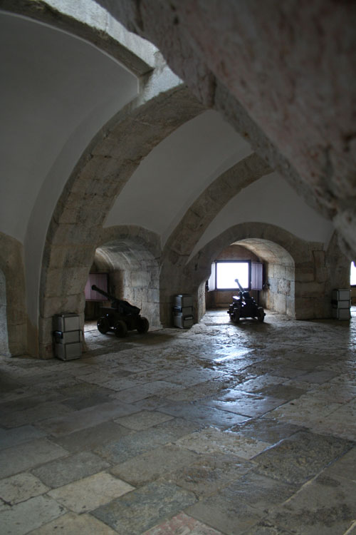 Inside of the Torre de Belém