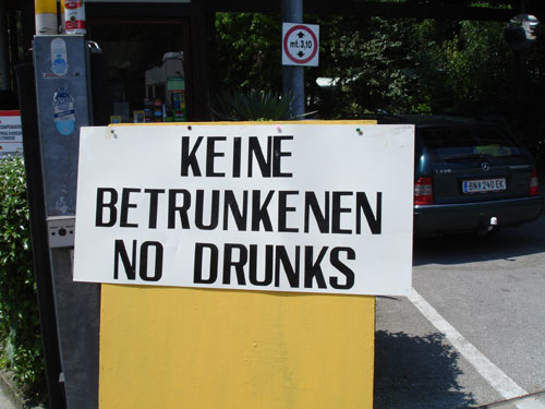 They don't accept drunks?