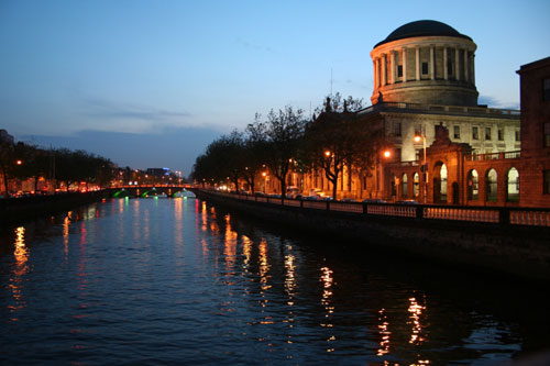 Liffey River and the The Four Courts