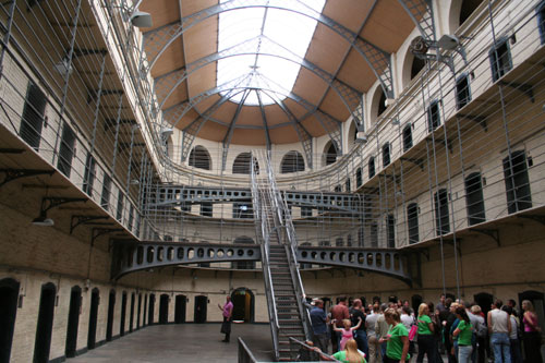 The Kilmainham Gaol Jail - Nowadays a museum. Leaders of five  Irish rebellions between 1798 and 1916 were detained here.