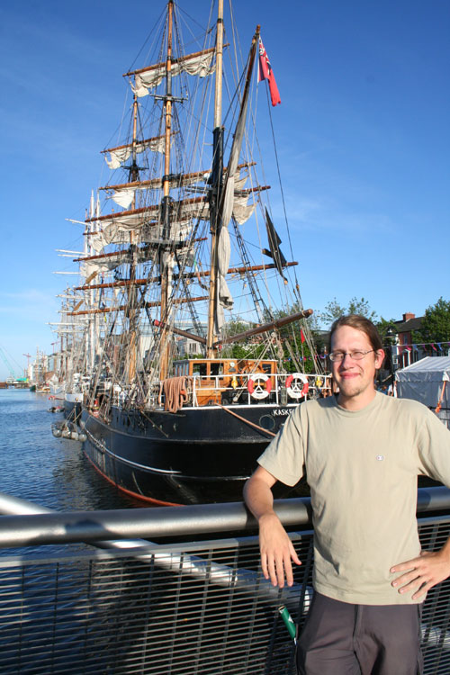 Me at a pirates ship!