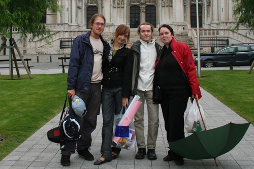 From left to right: Dominik, Iwona, Wim, Kathy