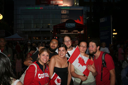 Canada day with friends of Deanna!