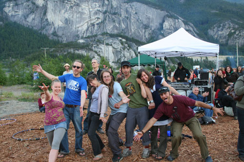 Festival in Squamish with friends from Marika