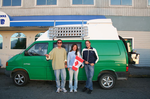 Axel from Germany (he offerd me a ride in his recreational vehicle to Tofino), Jennifer from Taiwan and again me