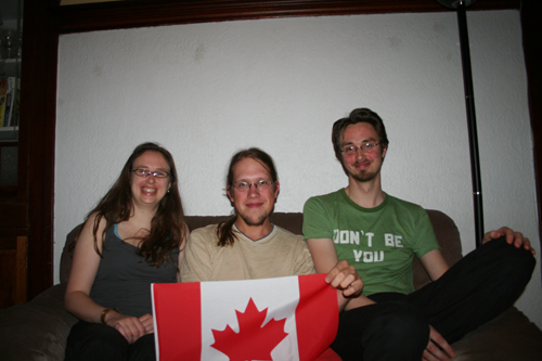 My hosts in Montreal: Isabelle, me and her brother