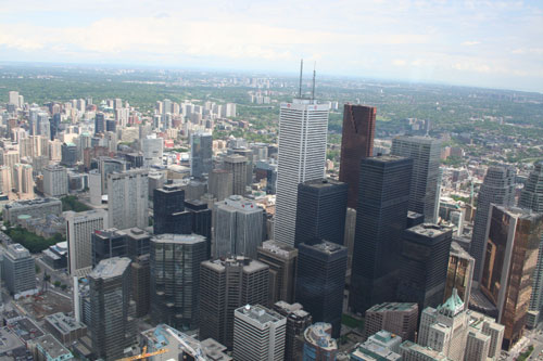 Downtown of Toronto from CN-Tower