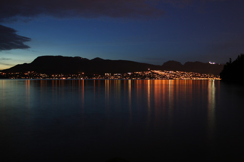 North Vancouver from Stanley Park at night