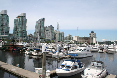 A small harbour close to Stanley park