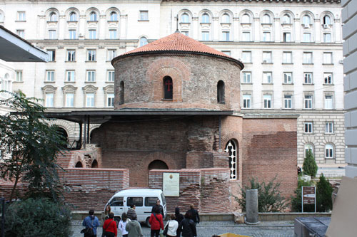 A former Roman thermae - Now it's  St. George Rotunda curch