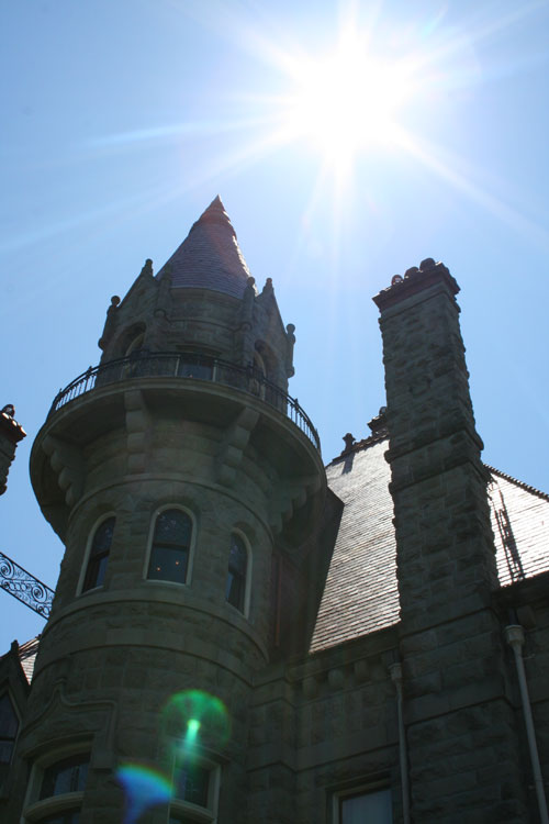 Craigdarroch Castle in the sun