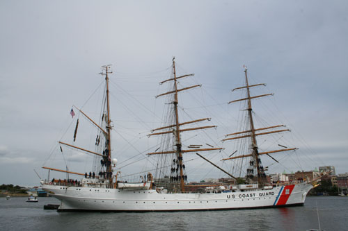 U.S. Coast Guard - The largest ship on this festival