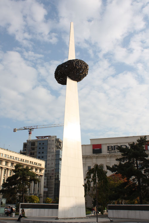 "Revolution Square - ""A heart stabed by communism"""
