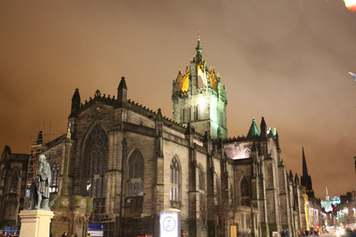 St. Giles-Cathedral at night