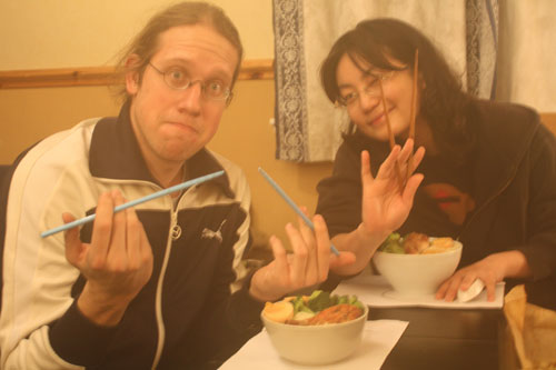 Eating with chopsticks? Yes, we can! :-)