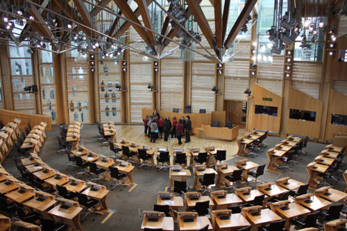 ...Scotish Parliament inside...