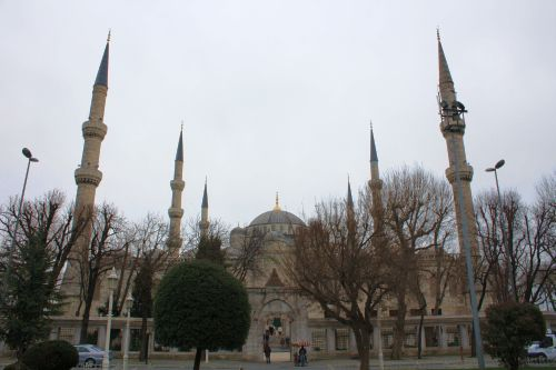Blue mosque - famous for having six minarets