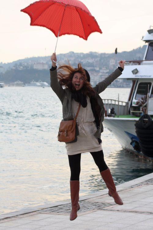 Esra, my Couchsurfing hostess in Istanbul