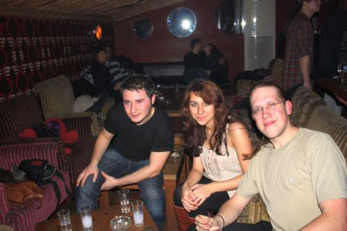 Emrah, Esra and me having Raki