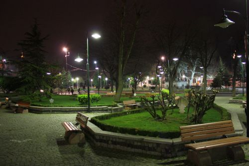 A small park, close to the Blue Mosque and the Hagia Sofia