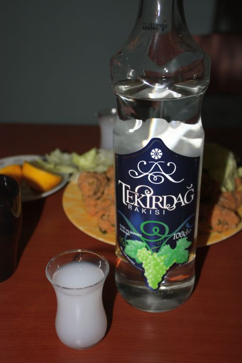 And the bottle of Raki