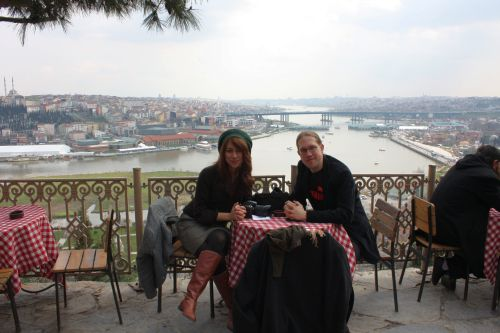 Esra and me having breakfast!