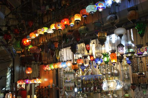A shop selling lamps