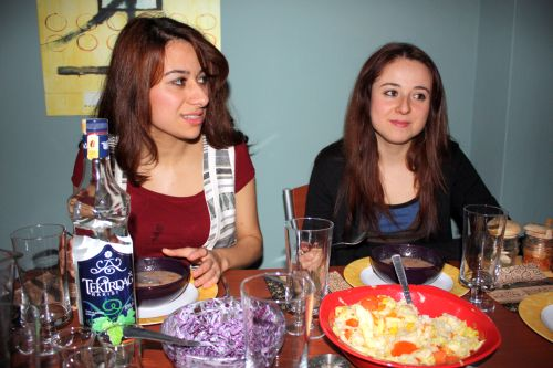 Esra and Ela prepaired food!
