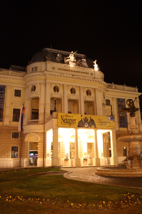 Slovak National Theatre at night