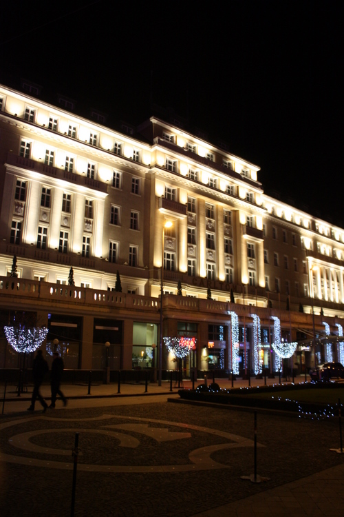 Radisson Blu Carlton Hotel with Christmas decoration